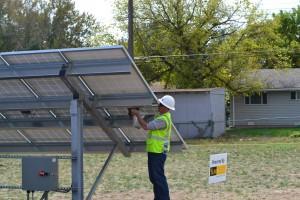 SunShare installs solar farm in a residential area.
