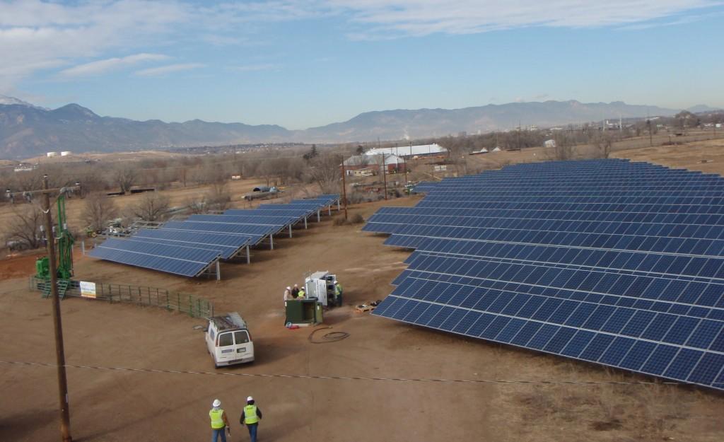 SunShare installed a solar farm in Colorado Springs. Photos courtesy of SunShare.