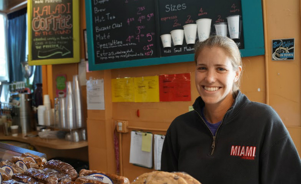 Former Wash Perk barista Liz Snyder is now the coffee shop's new owner. Photo by Katherine Blunt.