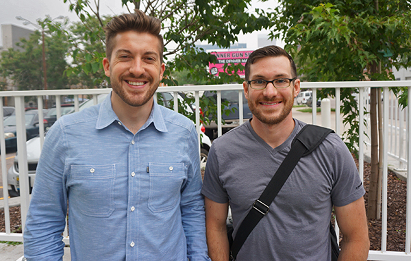 Bryan Gardner (left) and Dan Lucchesi are pushing a new version of their cycling startup. Photo by George Demopoulos.