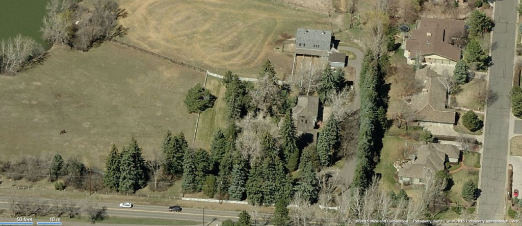 The equestrian property at 4001 E. Quincy Ave. topped last month's home sales.
