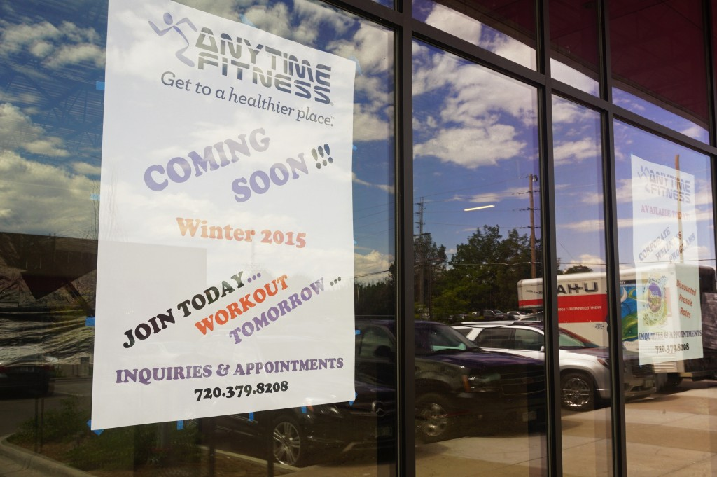 A new Anytime Fitness location will soon open on Colorado Boulevard. Photo by Burl Rolett.