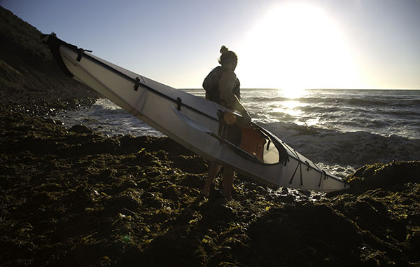 Oru kayaks can fold up into a 29-by-32-inch box that weighs about 26 pounds. Photos courtesy of GetOutfitted.