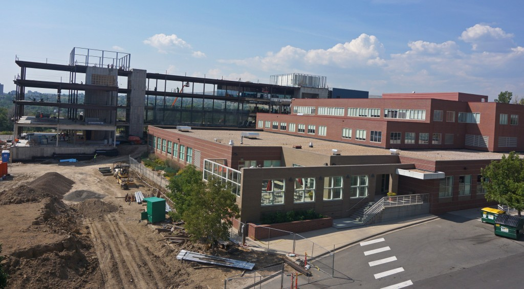 FirstBank is adding a second large building to its headquarters. Photos by Burl Rolett.