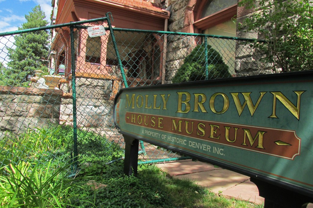 The Molly Brown House Museum is undergoing exterior renovations. Photos by Aaron Kremer.