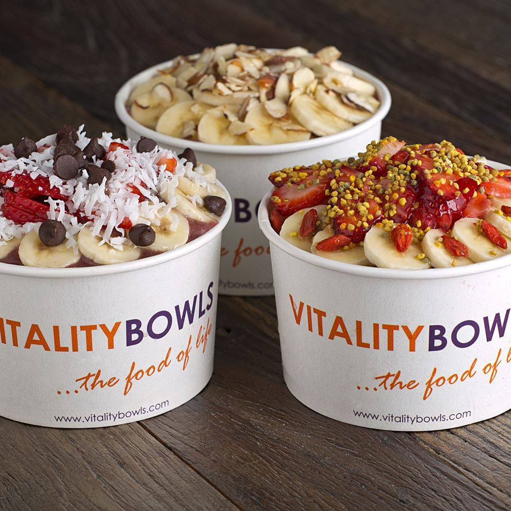 Vitality Bowls are primarily made of blended acai berries. Photo courtesy of Vitality Bowls.