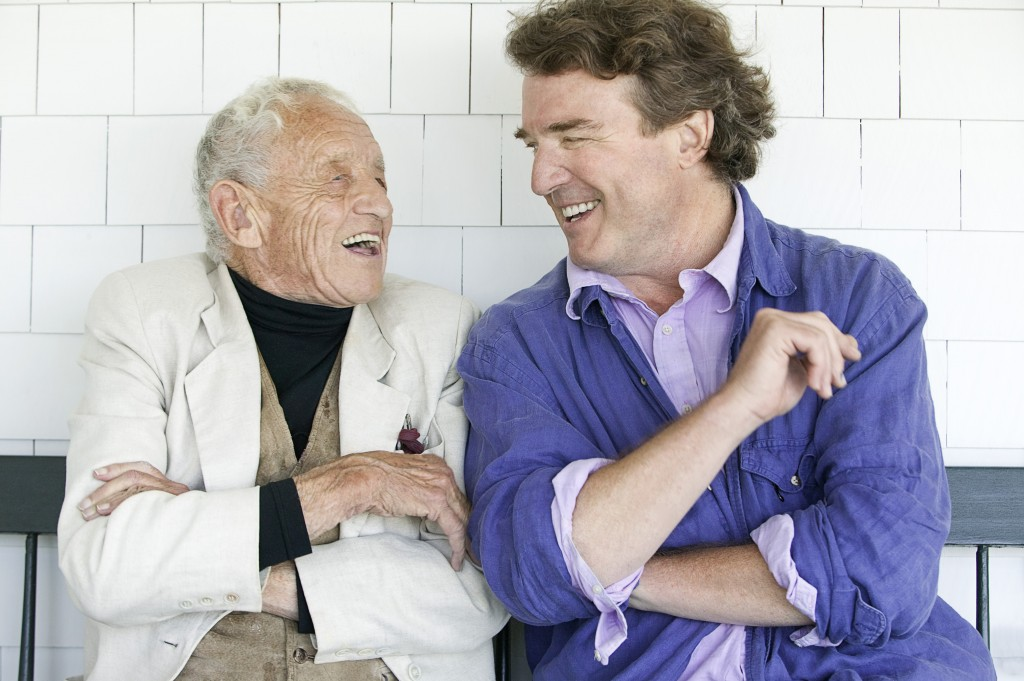 Andrew (left) and his son Jamie Wyeth. Photo by Peter Ralston, courtesy of DAM.