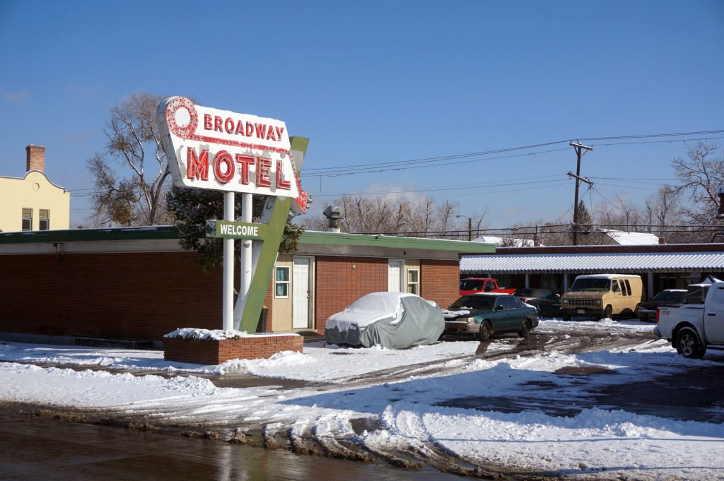 A motel property on South Broadway was picked up by developers. Photo by Burl Rolett.