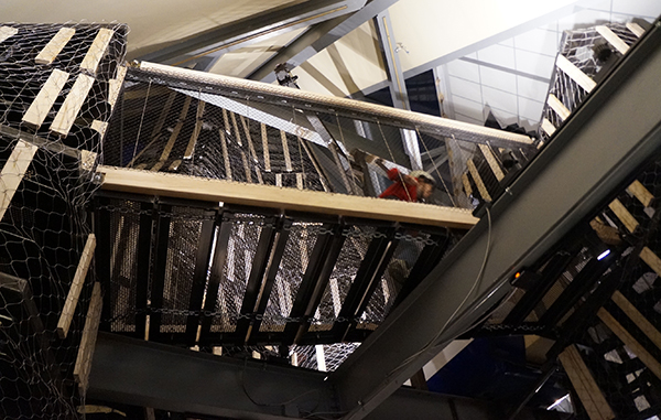 """A Children's Museum visitor runs through the new exhibit """"Altitude."""" Photos by Amy DiPierro."""