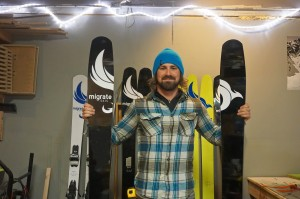 Lawrence is working up more designs and hopes to get his skis in more shops this season.
