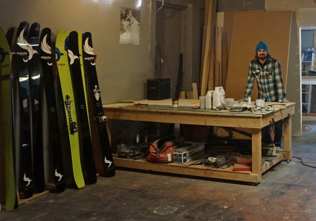 Brendan Lawrence has built a one-man ski making operation in Wheat Ridge.Photo by George Demopoulos.