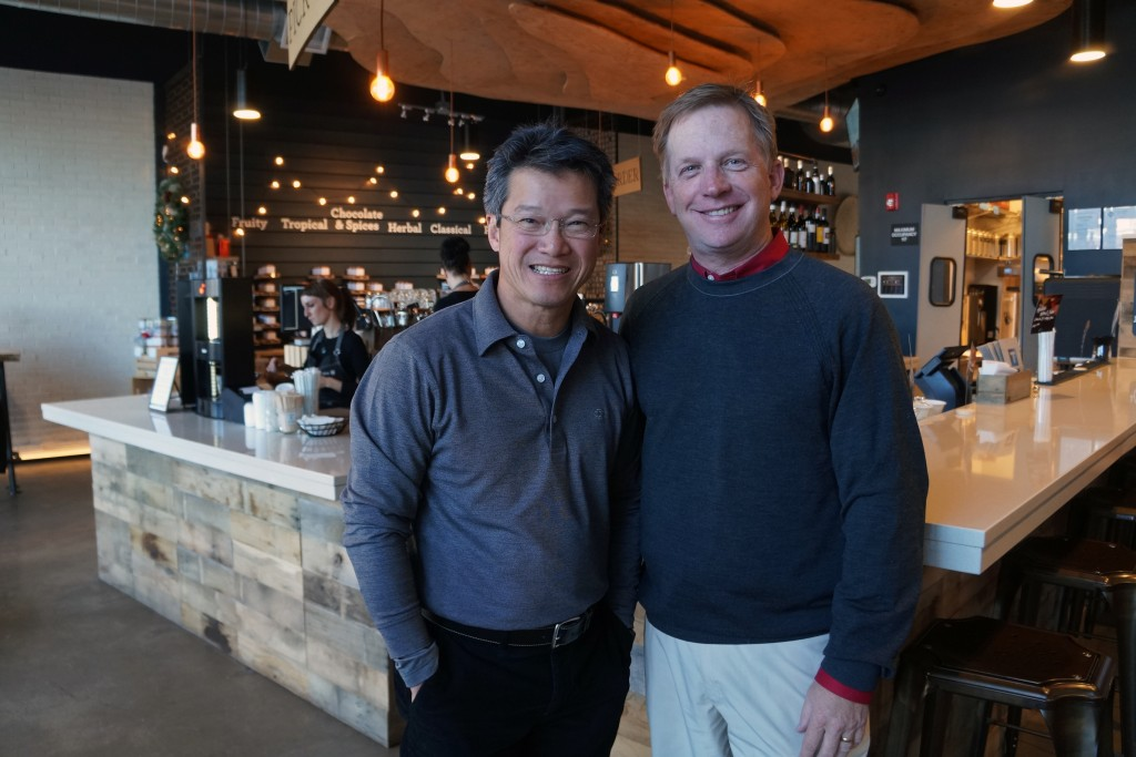 Jeremy Law (left) and Wilkins are expanding their tea cafe concept. Photos by Amy DiPierro.