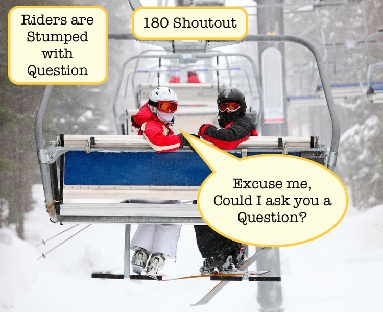 Trivia Lift contestants would be able to get emergency answer help from fellow skiers. Photo courtesy of Trivia Lift.