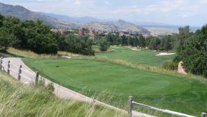 The golf course encircles the entire property.