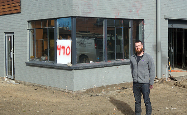 Will Curtin plans to open Banded Oak Brewing on Broadway this spring. Photo by Burl Rolett.