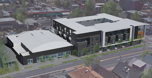 Renderings of Fulenwider's project at the corner of Logan and Bayaud St. in Wash Park. Courtesy of Red Owl.