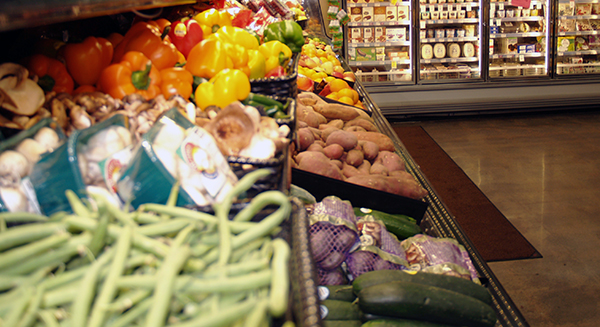 The produce isle at a Natural Grocers.