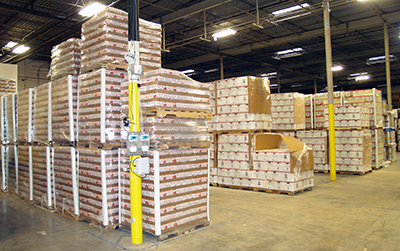 Inside the Sleeping Giant warehouse.