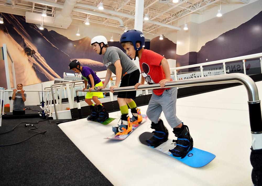 Snobahn snowboarding lesson