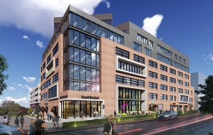 A rendering of the planned 180,000-square-foot development.