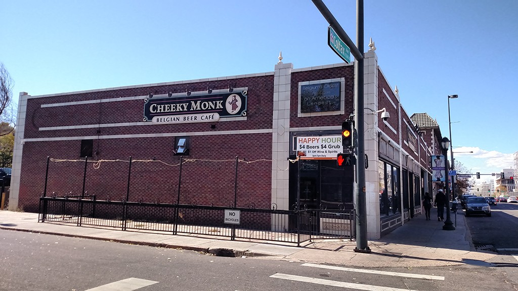 The former Cheeky Monk restaurant and Lost Highway brewery. (Burl Rolett)