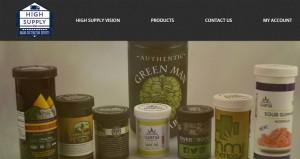 A screenshot from the High Supply website.