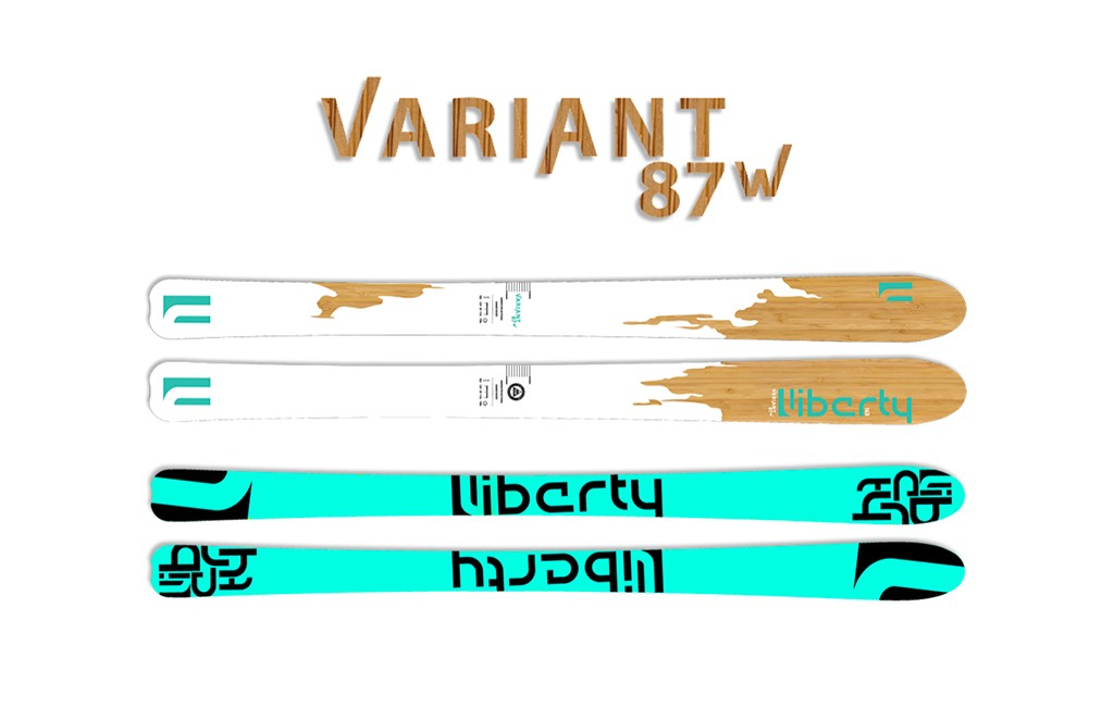Variant 87w women's skis are sold for $550 on Liberty Skis' website.