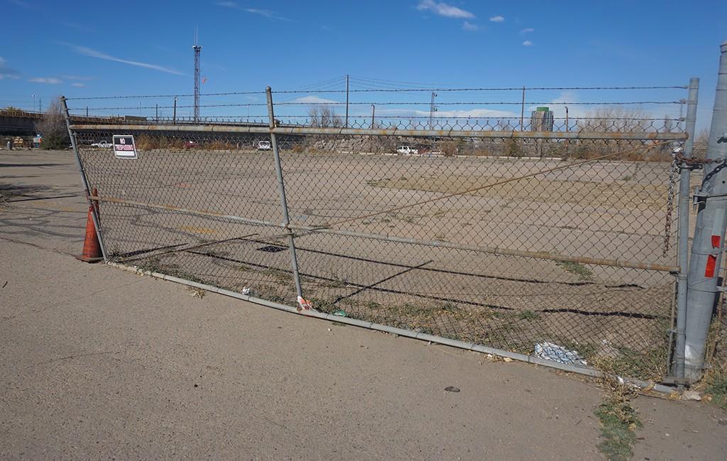The proposed development would cover the northwest corner of the Denargo Market complex. (Burl Rolett)