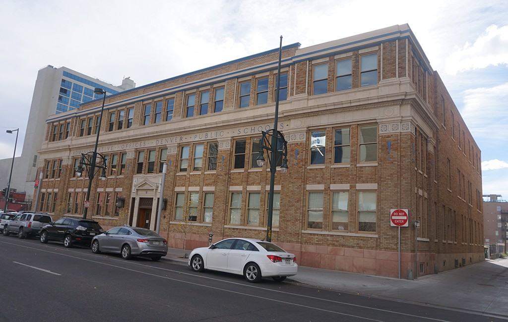 MOA Architecture moved into a former Denver Public School administration building on 14th Street last month. (Burl Rolett)