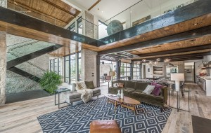 The 8,300-square-foot house was designed with reclaimed wood, glass and steel construction. (LIV Sotheby's)