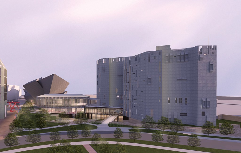 A rendering of the renovated North Building. (Courtesy Denver Art Museum)