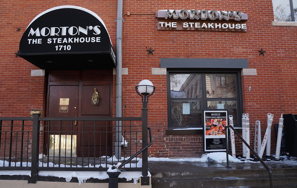 Morton's plans to leave its outpost at 1710 Wynkoop St. on Jan. 21. (Amy DiPierro)