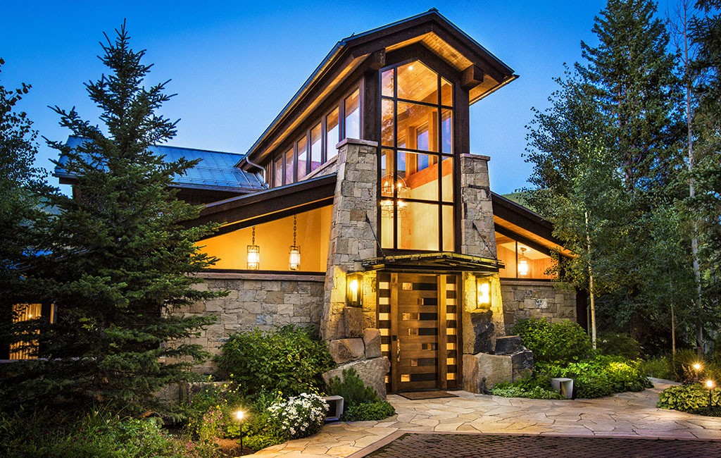 The 11,500-square-foot ski-in, ski-out property was purchased for $23 million. (Brent Bingham Photography)