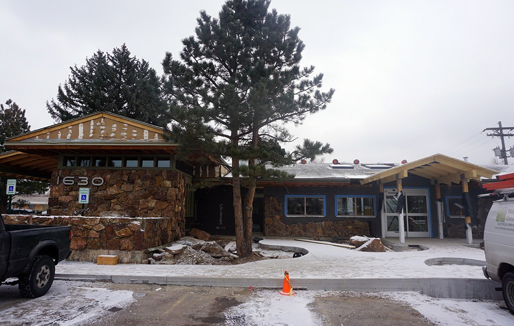 Renovations are underway on the former orthopedic center at 1630 Carr St. (Kate Tracy)