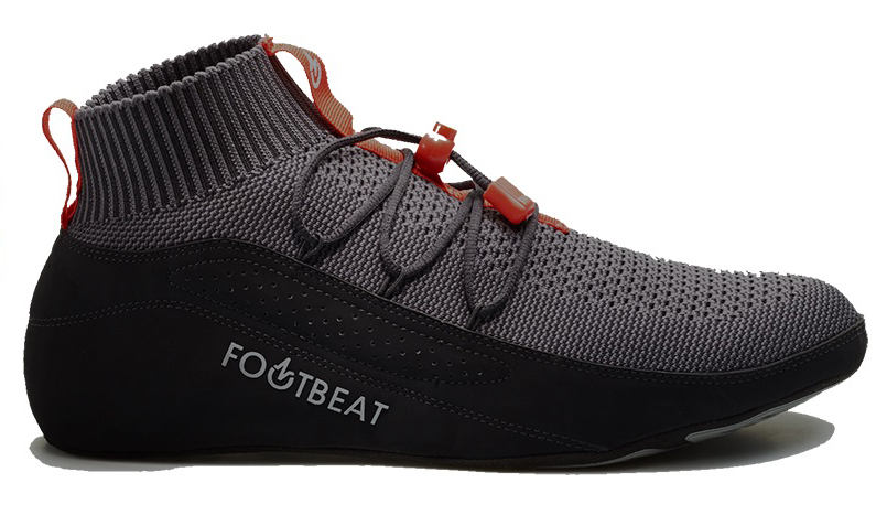 Footbeat sneakers have a pad that presses up against the wearer's arches to keep blood moving through the foot. (Courtesy Footbeat)