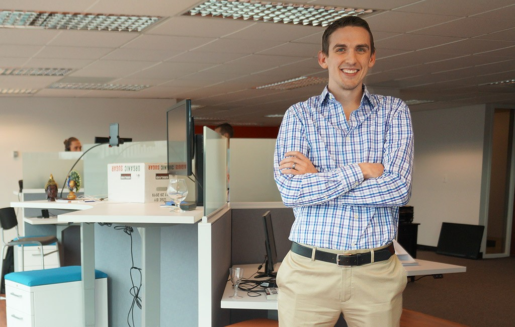 Rob Carpenter in AppIt's new office at 50 S. Steele St. (Amy DiPierro)