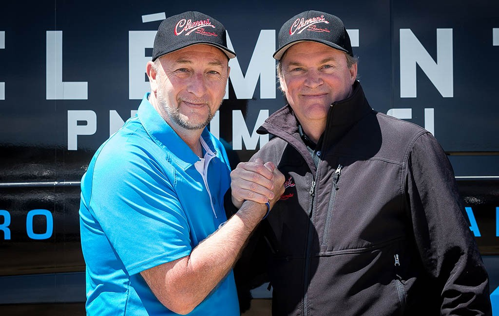 Clement general manager Donn Kellogg, right, and European manager Michael Johnston. (Courtesy Clement)