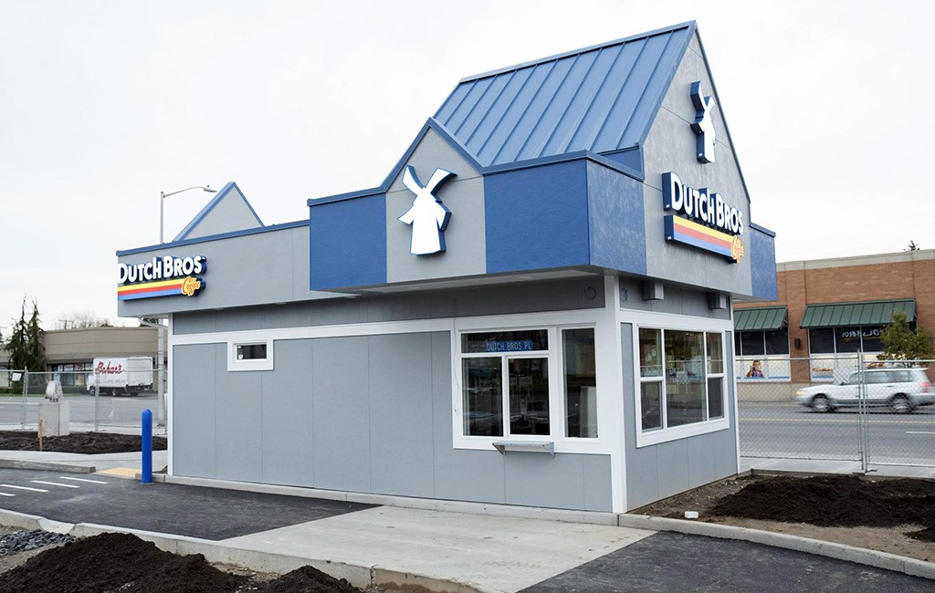 A Dutch Bros. outpost in Everett, Washington. The company plans to break ground in July on its first location in the Denver metro area. (Courtesy Dutch Bros.)