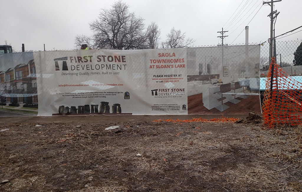 Seventeen townhomes are under construction at 1530 Irving St. in Sloan's Lake. (Burl Rolett)
