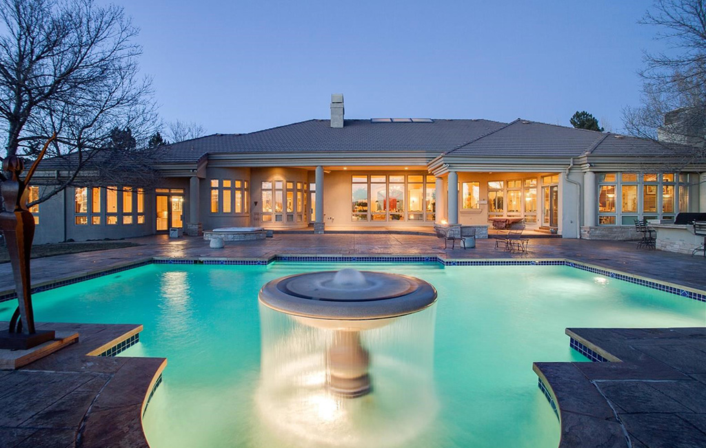 pool and back porch