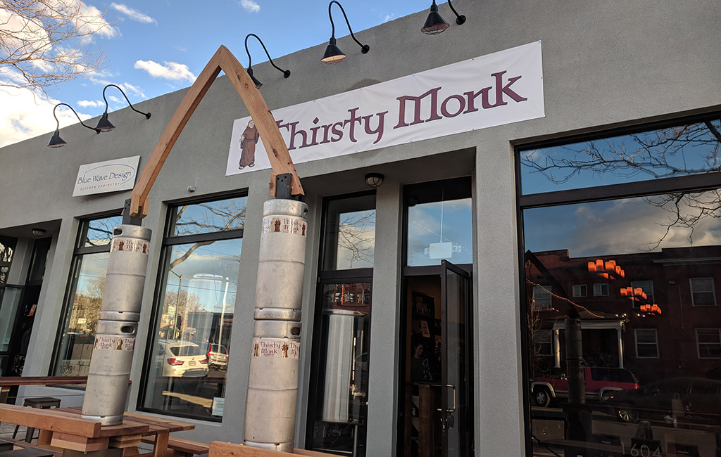 thirsty monk entrance
